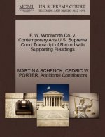F. W. Woolworth Co. V. Contemporary Arts U.S. Supreme Court Transcript of Record with Supporting Pleadings
