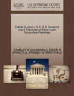 Zemler (Louis) V. U.S. U.S. Supreme Court Transcript of Record with Supporting Pleadings