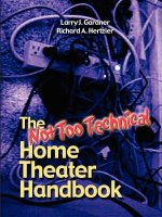 Not Too Technical Home Theater Handbook, 2nd Edition