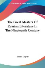 Great Masters Of Russian Literature In The Nineteenth Century