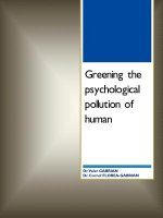 Greening the Psychological Pollution of Human