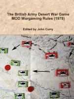 British Army Desert War Game