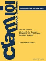 Studyguide for Quantum Mechanics, Vol. 2 by Cohen-Tannoudji, Claude