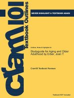 Studyguide for Aging and Older Adulthood by Erber, Joan T.