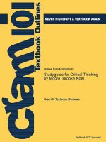 Studyguide for Critical Thinking by Moore, Brooke Noel