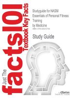 Studyguide for Nasm Essentials of Personal Fitness Training by Medicine