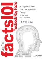 Studyguide for Nasm Essentials Personal Fit Training by Medicine, ISBN 9781608312818