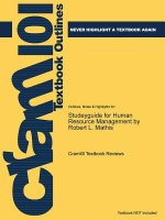 Studeyguide for Human Resource Management by Robert L. Mathis, ISBN