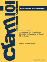 Studyguide for Quantitative Methods for Business by Anderson, David R., ISBN 9780840062338