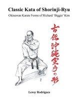 Classic Kata of Shorinji Ryu