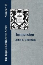Immersion, The Act of Christian Baptism