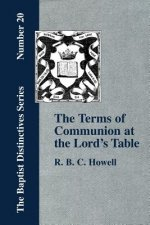 Terms of Communion at the Lord's Table