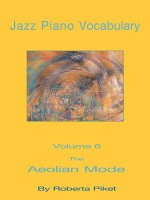 Jazz Piano Vocabulary Volume 6