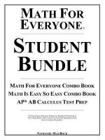 Math for Everyone Student Bundle