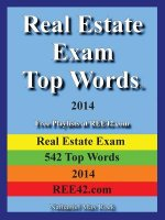 Real Estate Exam Top Words 2014 Real Estate Exam 542 Top Words 2014 Ree42.com