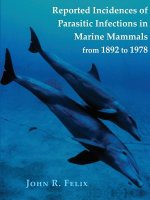 Reported Incidences of Parasitic Infections in Marine Mammals from 1892 to 1978