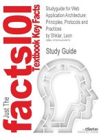 Studyguide for Web Application Architecture