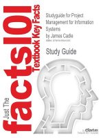 Studyguide for Project Management for Information Systems by Cadle, James, ISBN 9780132068581
