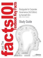 Studyguide for Corporate Governance (3rd Edition) by Kim, Kenneth, ISBN 9780136096986