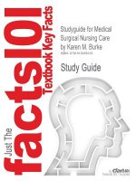 Studyguide for Medical Surgical Nursing Care by Burke, Karen M., ISBN 9780136080046