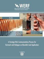 Strategic Risk Communications Process for Outreach and Dialogue on Biosolids Land Application