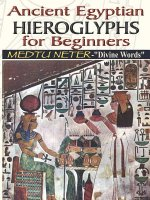 Ancient Egyptian Hieroglyphs for Beginners - Medtu Neter-
