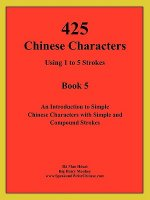 425 Chinese Characters Using 1 to 5 Strokes