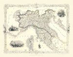John Tallis Map of Northern Italy 1851