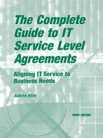 Complete Guide to I.T. Service Level Agreements