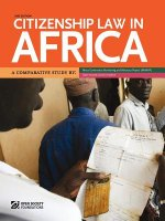 Citizenship Law in Africa. a Comparative Study