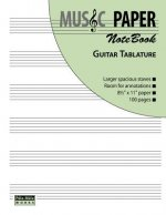 Music Paper Notebook - Guitar Tablature