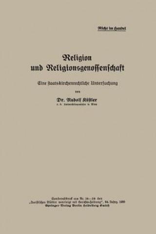 Religion Und Religionsgenossenschaft