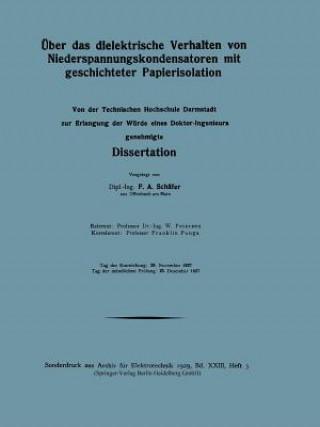 UEber Das Dielektrische Verhalten Von Niederspannungskondensatoren Mit Geschichteter Papierisolation