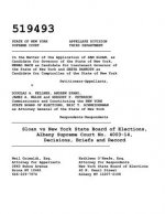 Sloan Vs New York State Board of Elections, Albany Supreme Court No. 4003-14, Decisions, Briefs and Record