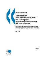 Tables Rondes Cemt No. 135 Tarification Des Infrastructures de Transport Et Dimensionnement de La Capacite
