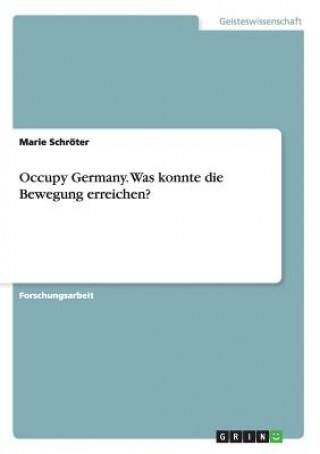 Occupy Germany. Was konnte die Bewegung erreichen?