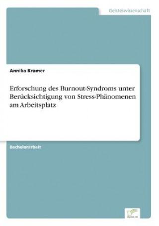 Erforschung des Burnout-Syndroms unterBerucksichtigung von Stress-Phanomenen amArbeitsplatz