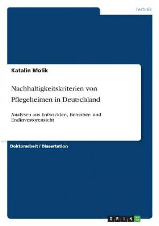 Nachhaltigkeitskriterien von Pflegeheimen in Deutschland