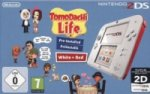 Nintendo 2DS White + Red, inkl. Tomodachi Life, Nintendo 3DS-Spiel