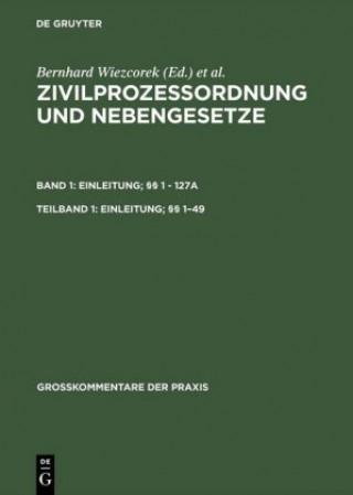 Zivilprozessordnung und Nebengesetze, Teilband 1, Einleitung;  1-49