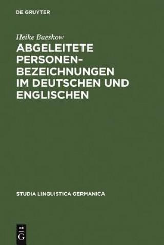 Abgeleitete Personenbezeichnungen im Deutschen und Englischen