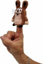 Zajíc 10cm - prstový maňásek (Krtek a kamarádi)