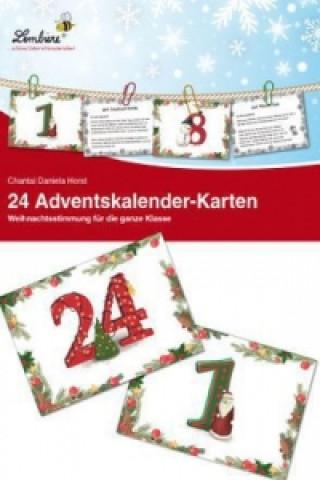24 Adventskalender-Karten