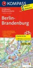 Kompass Großraum-Radtourenkarte Berlin-Brandenburg, 2 Bl.