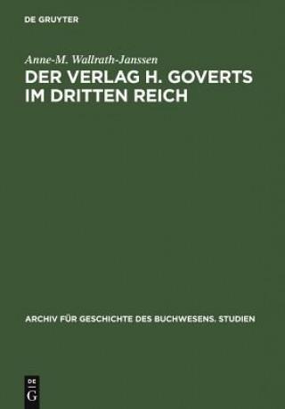 Verlag H. Goverts Im Dritten Reich