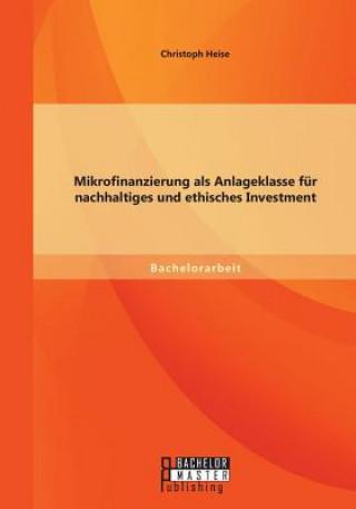 Mikrofinanzierung ALS Anlageklasse F r Nachhaltiges Und Ethisches Investment