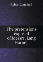 The pretensions exposed of Messrs. Lang Burnet