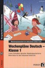 Wochenpläne Deutsch - Klasse 1, m. CD-ROM