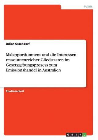 Malapportionment und die Interessen ressourcenreicher Gliedstaaten im Gesetzgebungsprozess zum Emissionshandel in Australien
