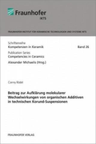 Beitrag zur Aufklärung molekularer Wechselwirkungen von organischen Additiven in technischen Korund-Suspensionen